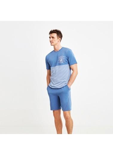 Nautica M108SORTTK.IND Nautıca Erkek Mavi Pijama Takımı Mavi
